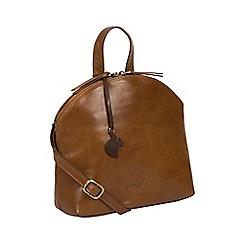 Conkca London - Dark tan 'Ingrid' leather cross body bag