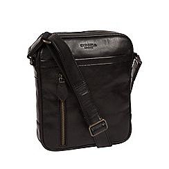 Conkca London - Black 'Carlos' Cross-Body Bag