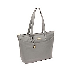 Cultured London - Silver Grey  Oriana  Handmade Leather Tote Bag 454fed1732