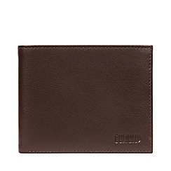Cultured London - Brown 'Fabian' Leather Bi-Fold Wallet