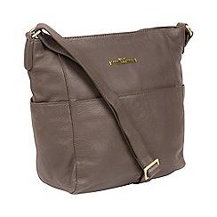 Pure Luxuries London - Grey 'Dorothea' handmade leather shoulder bag