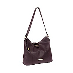 aadc6702ba5 Pure Luxuries London - Plum  Elaine  Leather Shoulder Bag
