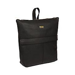 Cultured London - Black  Josie  Leather Backpack 9f55360e2c