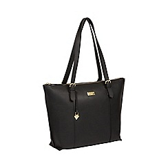 Cultured London - Black  Pippa  Leather Tote Bag 8ce5f0bcb3da5
