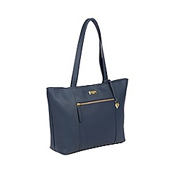 Cultured London - Denim 'Dawn' Handmade Leather Tote Bag