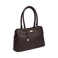 Cultured London - Dark Chocolate 'Kiona' Leather Handbag