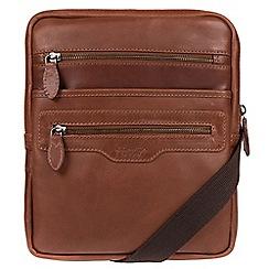 Conkca London - Conker brown 'Hoya' natural leather despatch bag
