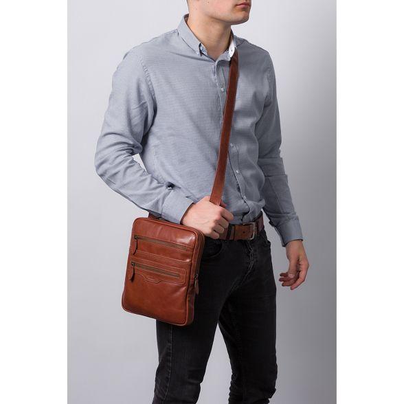 natural 'Hoya' London leather Conkca despatch bag brown Conker WRSn6qc4