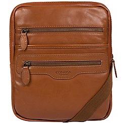 Conkca London - Chesnut 'Hoya' natural leather dispatch bag