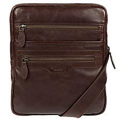 Conkca London - Dark brown 'Hoya' natural leather despatch bag