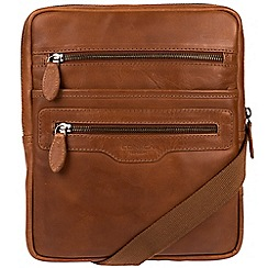Conkca London - Whiskey 'Hoya' natural leather despatch bag