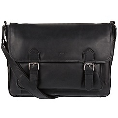 Conkca London - Black 'Brixton' Natural Leather Satchel