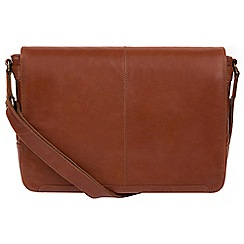 Conkca London - Conker brown 'Bermondsey' buffalo leather messenger bag