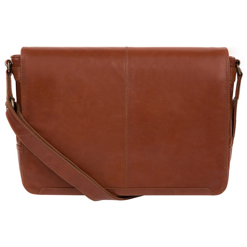 Conkca London - Conker Brown Bermondsey Buffalo Leather Messenger Bag