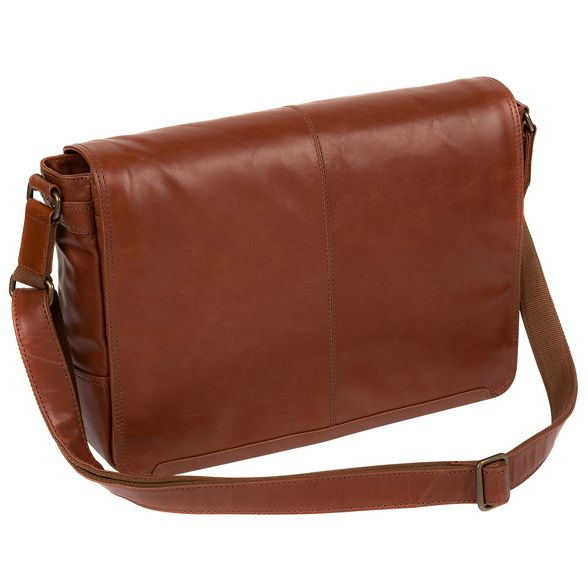 buffalo Conkca Conker leather bag 'Bermondsey' London messenger brown xTAvUTIwq
