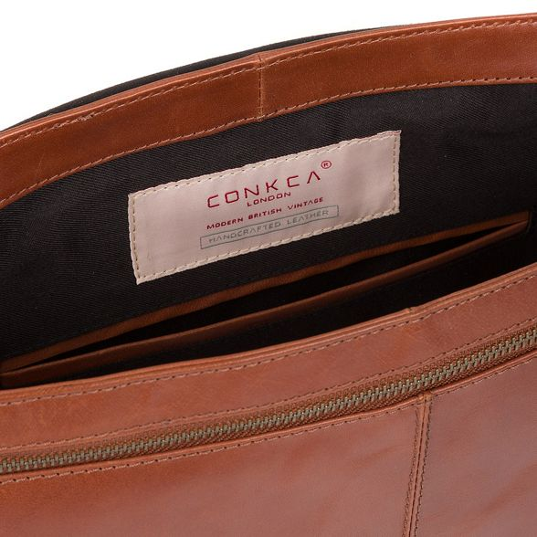 Conkca Conker messenger brown buffalo bag leather London 'Bermondsey' FrxS8wTFq