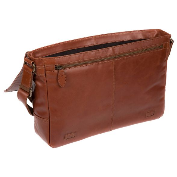 London Conker Conkca brown messenger bag 'Bermondsey' buffalo leather 4HdUgdqw