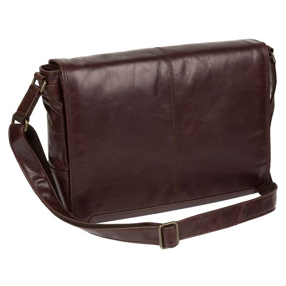 Dark buffalo 'Bermondsey' London brown bag leather messenger Conkca wHqR75xAx
