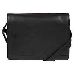 Conkca London - Black 'Islington' buffalo leather messenger bag
