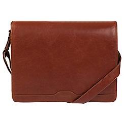 Conkca London - Conker brown 'Islington' buffalo leather messenger bag