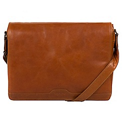 Conkca London - Brown 'Islington' natural leather messenger bag