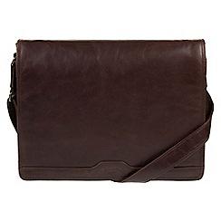 Conkca London - Dark brown 'Islington' handcrafted leather messenger bag