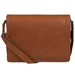 Conkca London - Whiskey 'Islington' handcrafted leather messenger bag
