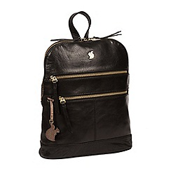 Conkca London - Black 'Francisca' handcrafted leather backpack
