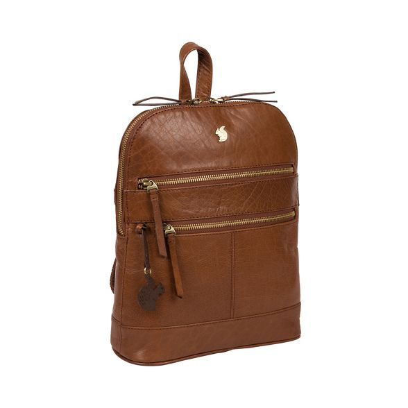 Conkca 'Francisca' leather Conker backpack brown London handcrafted SAnZSPqrw