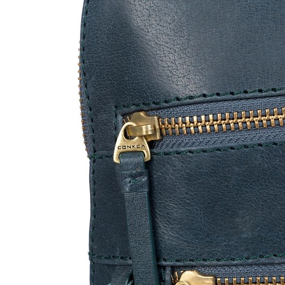 blue backpack Conkca leather Denim London 'Francisca' handcrafted AqREpqY
