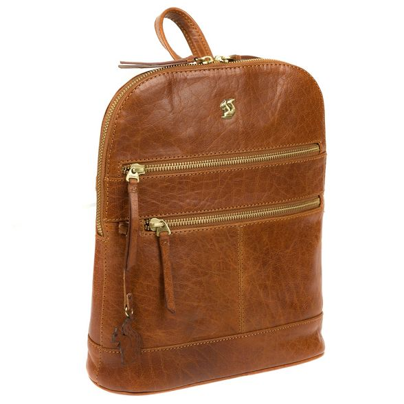 leather Dark Conkca tan London handmade backpack 'Francisca' XTqpq