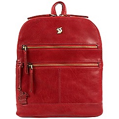 Conkca London - Scarlet 'Francisca' handcrafted leather backpack