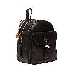 Conkca London - Black 'Eloise' handcrafted leather backpack