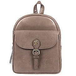 Conkca London - Dark Grey 'Eloise' handcrafted leather backpack