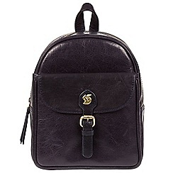 Conkca London - Navy 'Eloise' handcrafted leather backpack