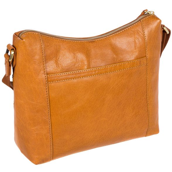 Conkca London bag 'Georgia' Cognac leather handcrafted rrgqapd