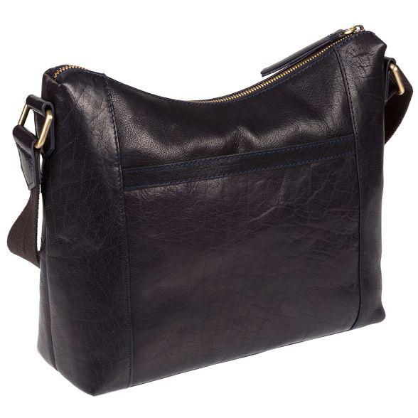 London cross 'Georgia' body Conkca bag handmade Navy leather fqawax