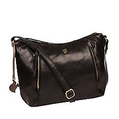 Conkca London - Black 'Esta' handcrafted leather bag