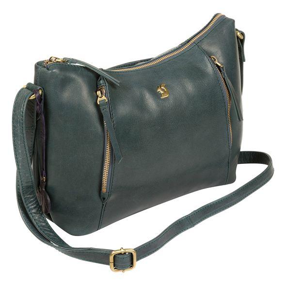 bag Conkca Denim 'Esta' leather handcrafted London blue Yfvwqza