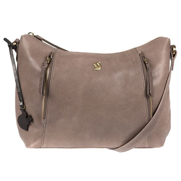 Dark body Conkca London leather Grey cross bag 'Esta' handcrafted C5HvqA5