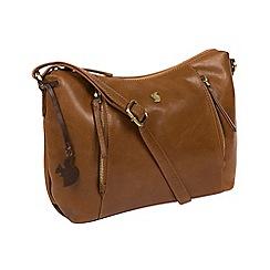 Conkca London - Dark tan 'Esta' handcrafted leather bag