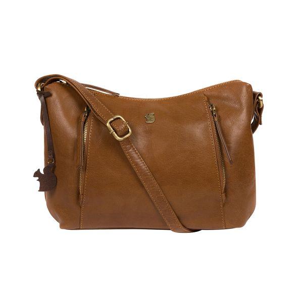 leather bag Conkca 'Esta' handcrafted London Dark tan qwrXYr76