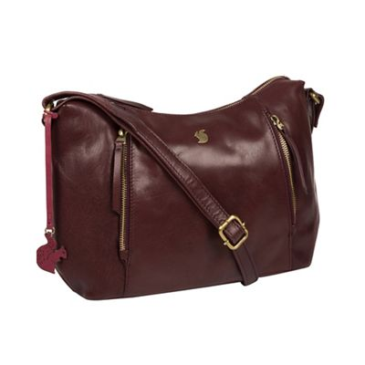 6d1bb17beb45 Conkca London - Plum  Esta  handcrafted leather cross-body bag