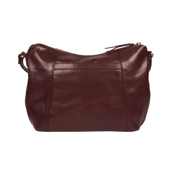 Conkca handcrafted body London leather 'Esta' cross Plum bag BrBqv