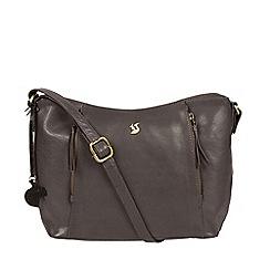 Conkca London - Slate 'Esta' handcrafted leather cross-body bag