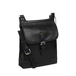 Conkca London - Black 'Sasha' handcrafted leather bag