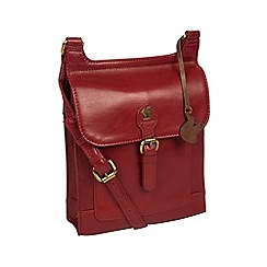 Conkca London - Chilli pepper  Sasha  handmade leather cross-body bag ea2d912c6