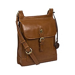 0ad7112c1efa Conkca London - Dark tan  Sasha  handmade leather cross-body bag