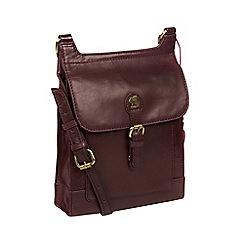 Conkca London - Plum 'Sasha' handcrafted leather cross-body bag