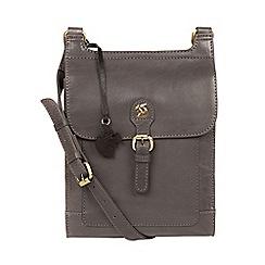 Conkca London - Slate 'Sasha' leather cross-body bag